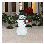 Home Depot: 4 ft. Airblown Lighted Outdoor Snowman!